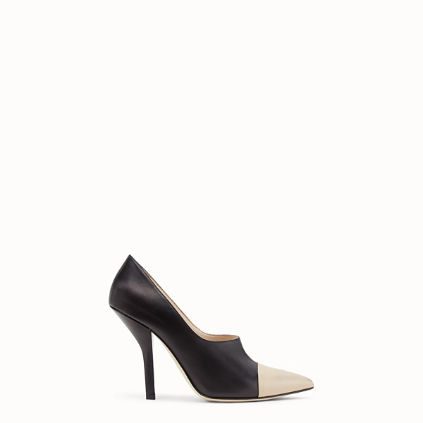 FENDI PUMPS - Two-tone leather court shoes - view 1 small thumbnail