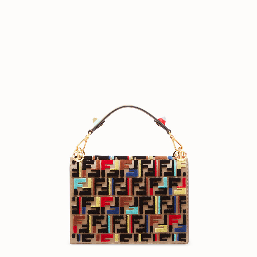 FENDI KAN I - Multicolor leather and fabric bag - view 3 detail
