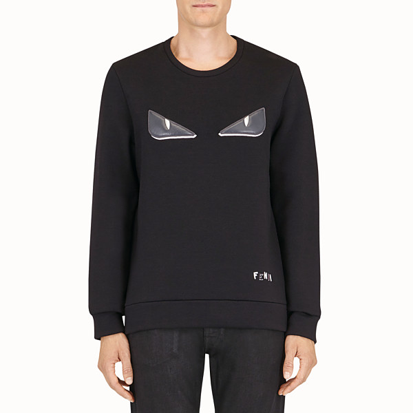 FENDI PULLOVER - Black wool sweater - view 1 small thumbnail