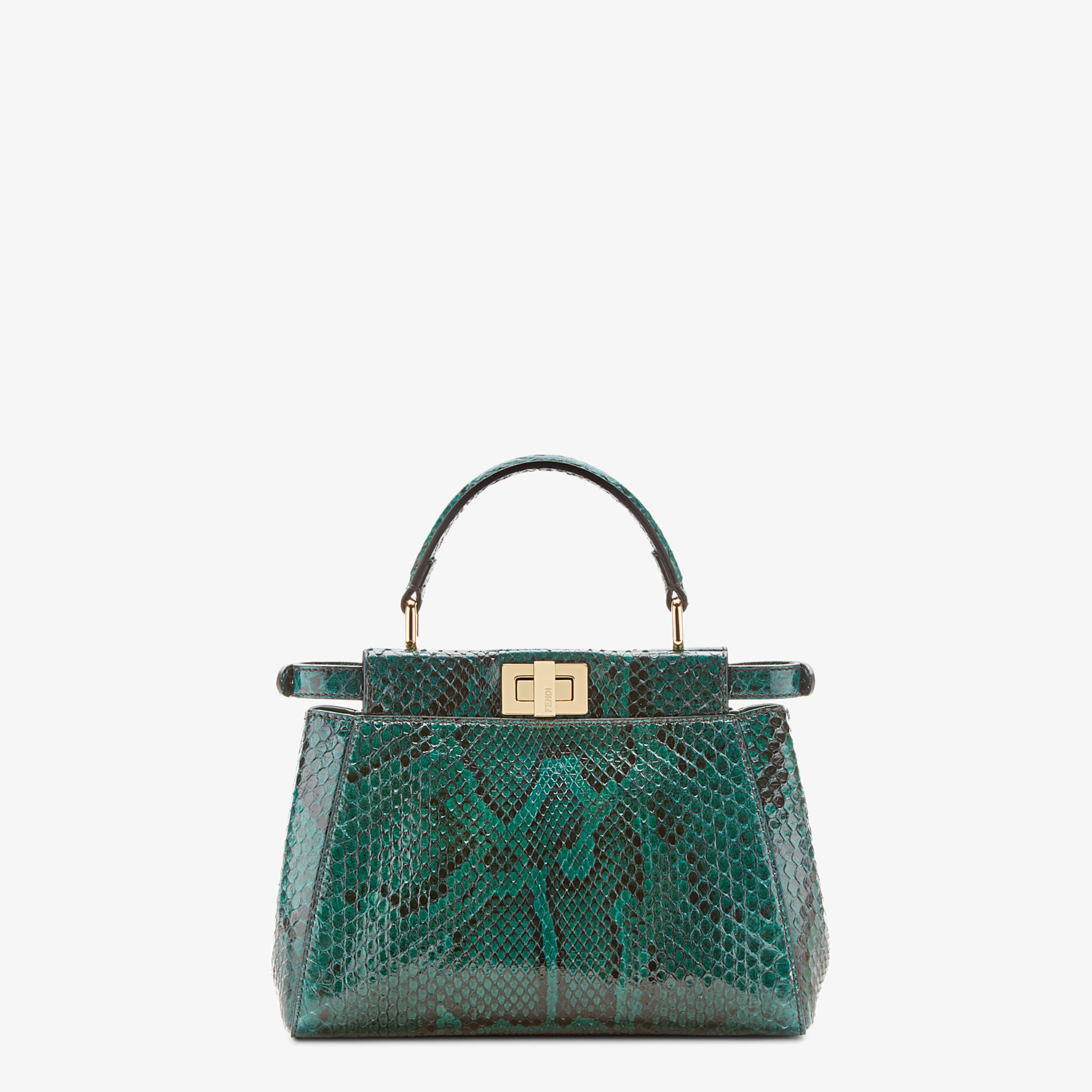 FENDI PEEKABOO ICONIC MINI - Green python bag - view 3 detail