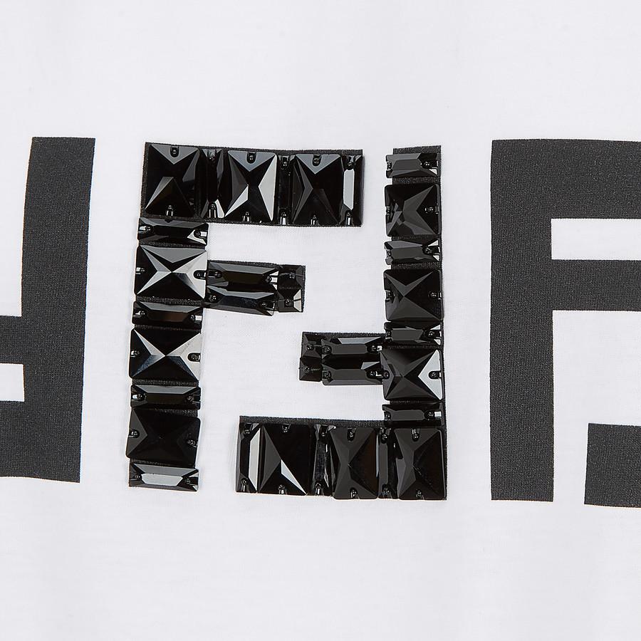 FENDI 티셔츠 - 화이트 코튼 티셔츠 - view 3 detail