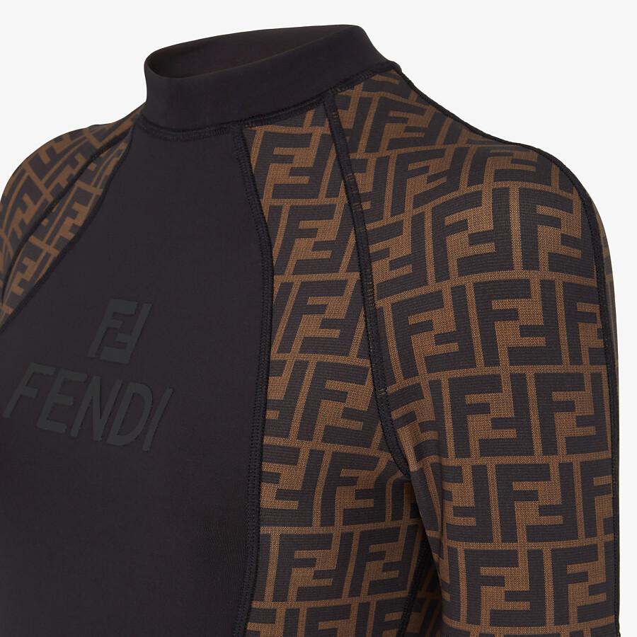 FENDI SWEATER - Brown Lycra® sweater - view 3 detail