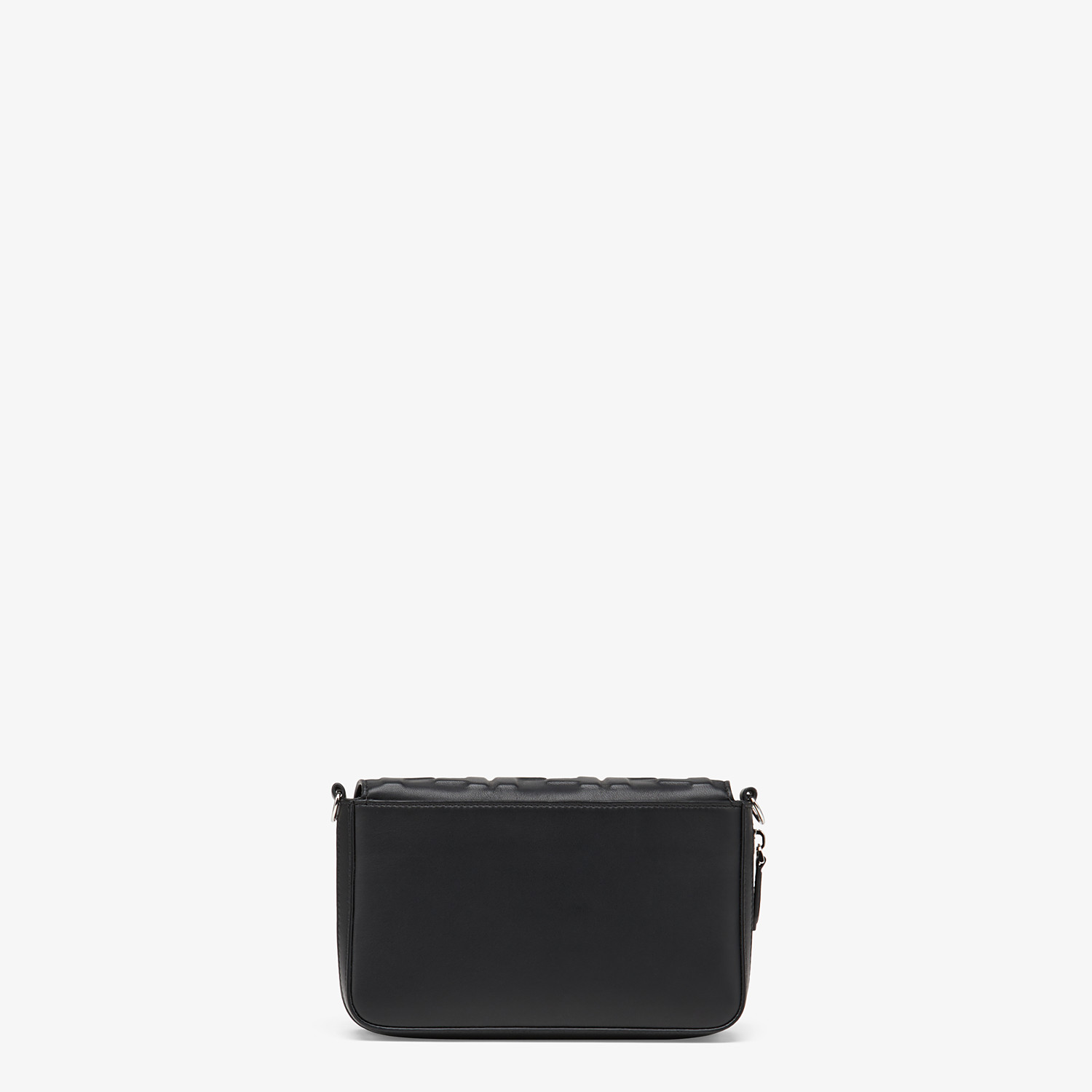 FENDI FLAP BAG - Black nappa leather bag - view 4 detail