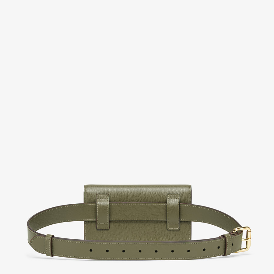 FENDI BELT BAG - Green leather belt bag - view 3 detail