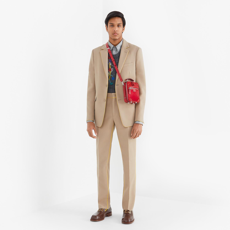 FENDI TRAVEL MINI BAG - Red leather bag - view 6 detail