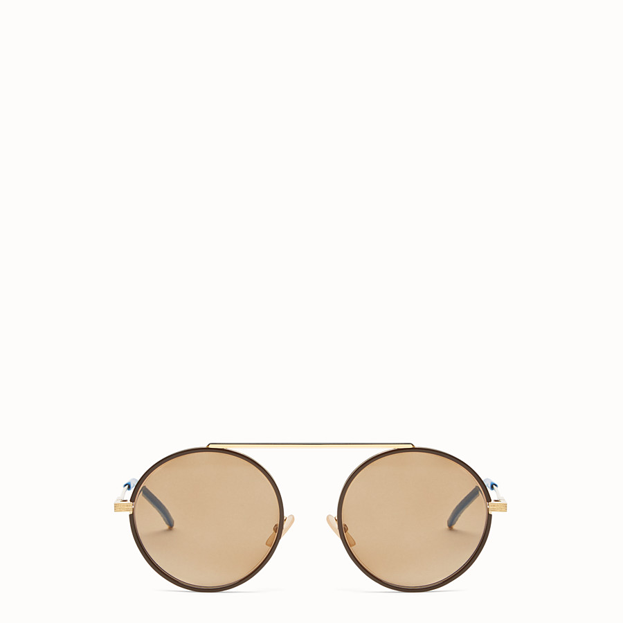 FENDI EVERYDAY FENDI - Gold sunglasses - view 1 detail