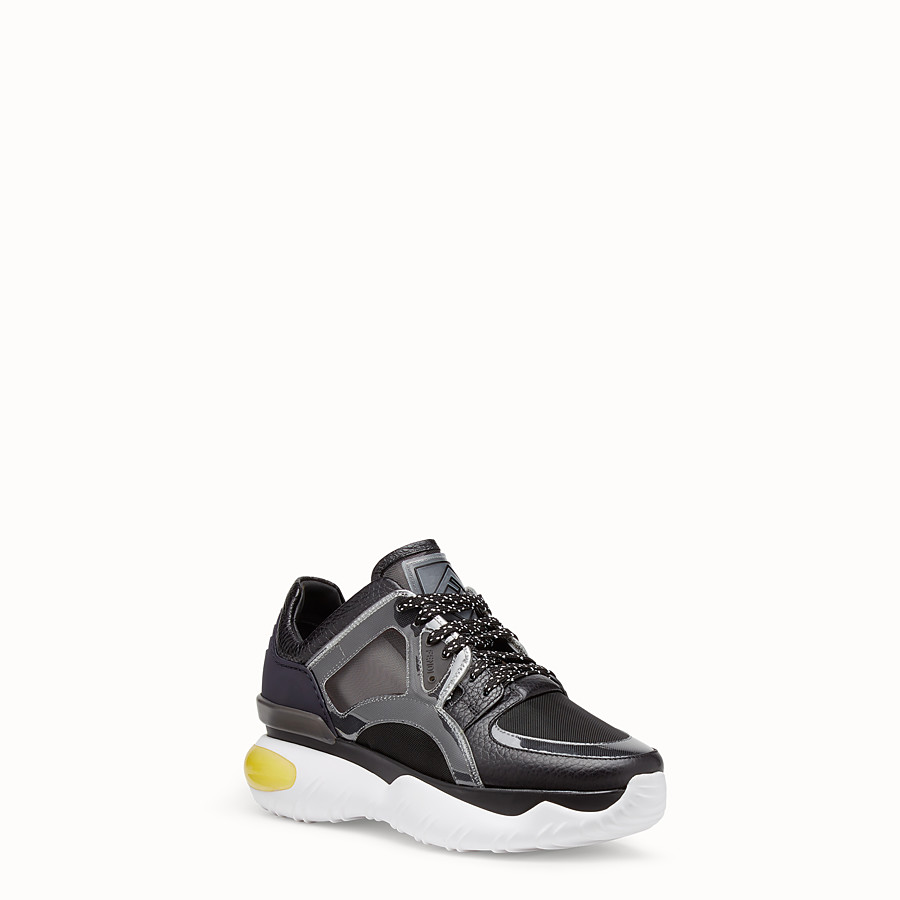 FENDI SNEAKERS - Multicolour leather sneakers - view 2 detail