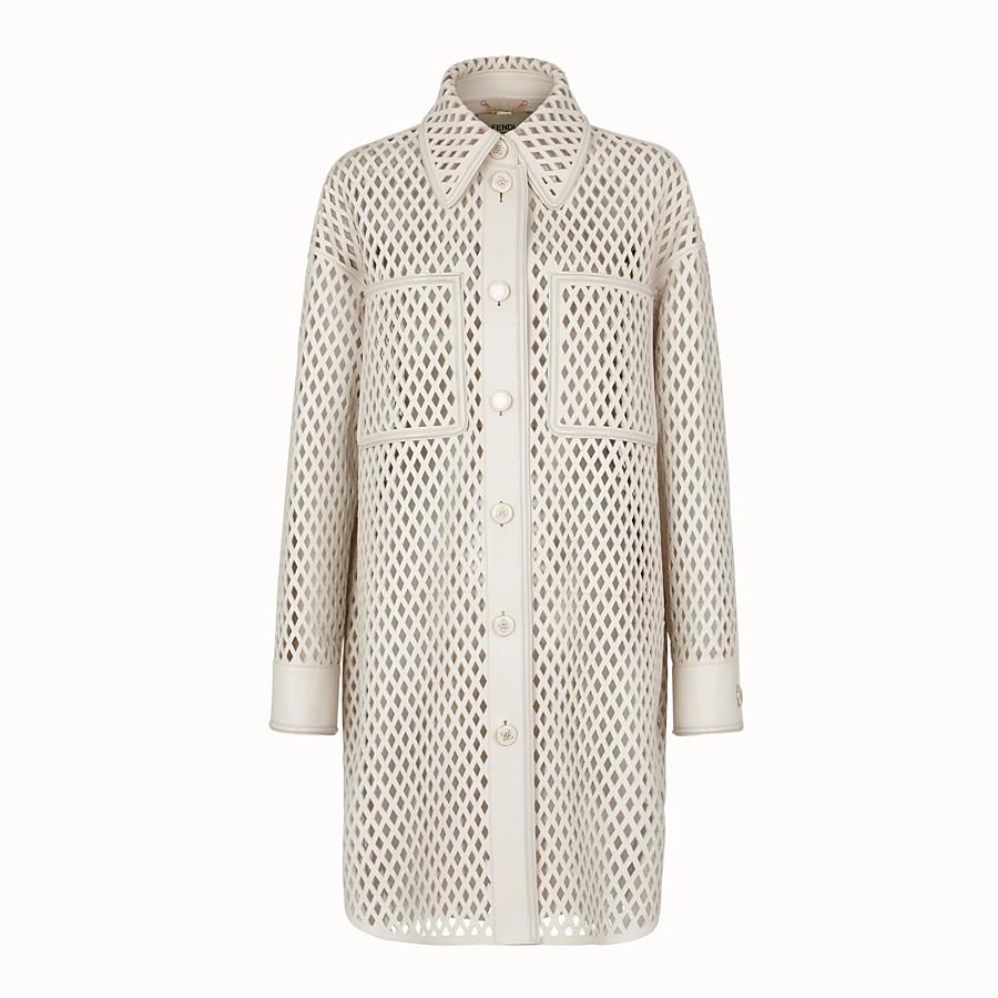 FENDI COAT - Beige leather coat - view 1 detail