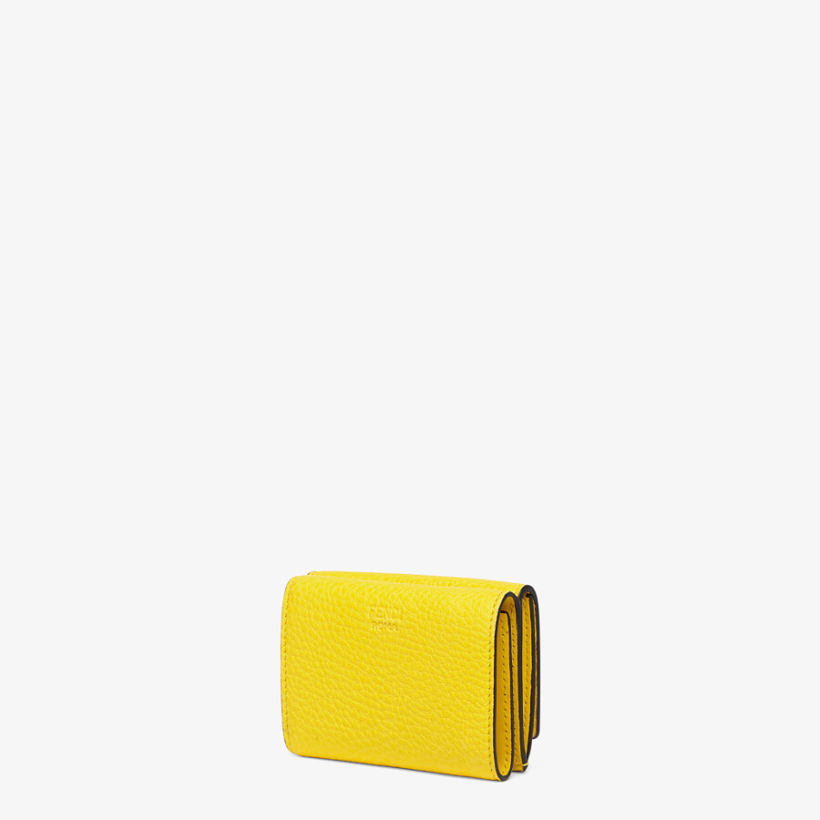FENDI MICRO TRIFOLD - Yellow leather wallet - view 2 detail
