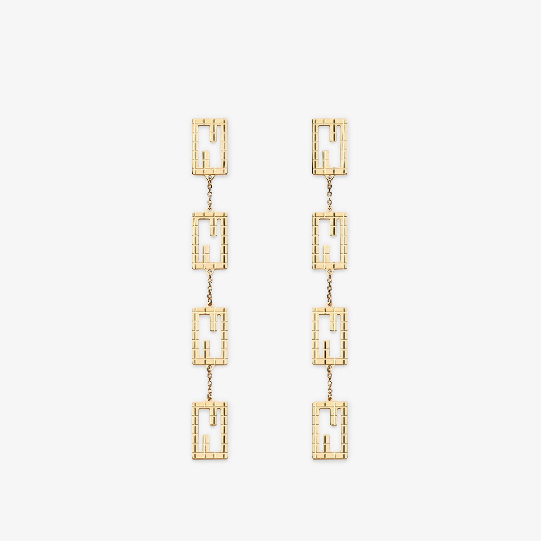 FENDI BAGUETTE EARRINGS - Gold-colored earrings - view 1 detail