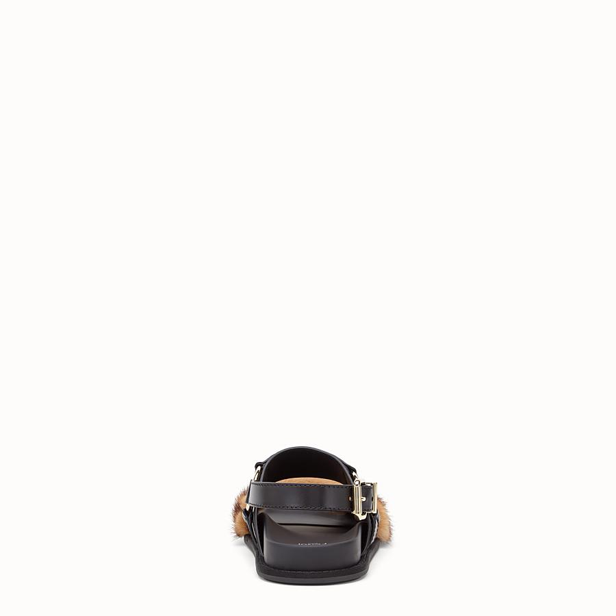 FENDI SANDALEN - Slingback aus Leder in Schwarz - view 3 detail