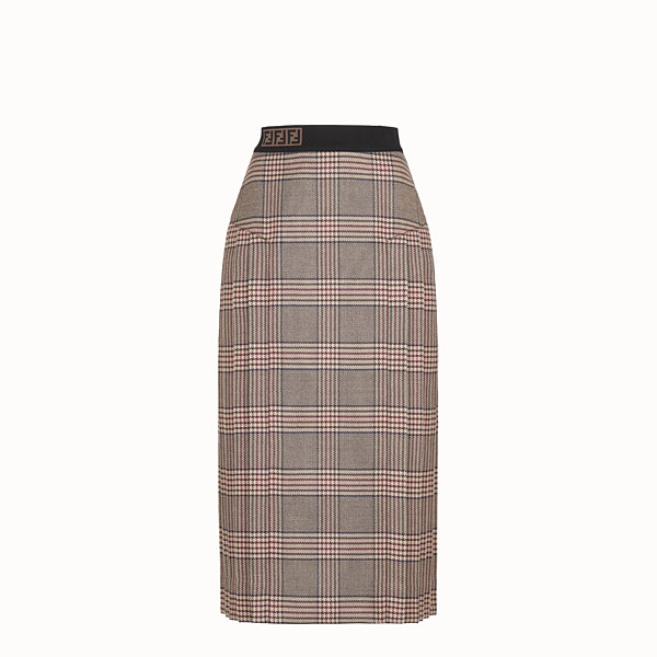 FENDI SKIRT - Prince of Wales check wool skirt - view 1 small thumbnail
