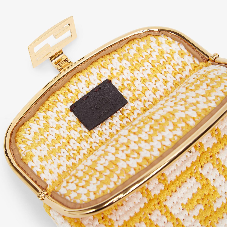 FENDI BAGUETTE PHONE BAG - FF crochet fabric mini-bag - view 4 detail