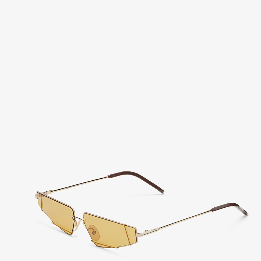 FENDI FENDIFIEND - Brown and gold sunglasses - view 2 detail