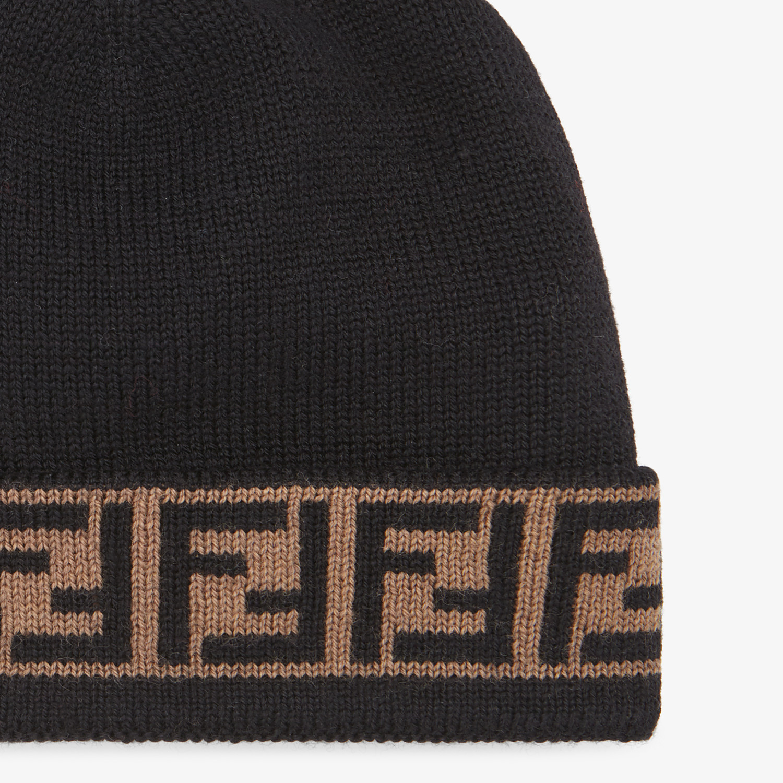 FENDI HAT - Black wool hat - view 2 detail
