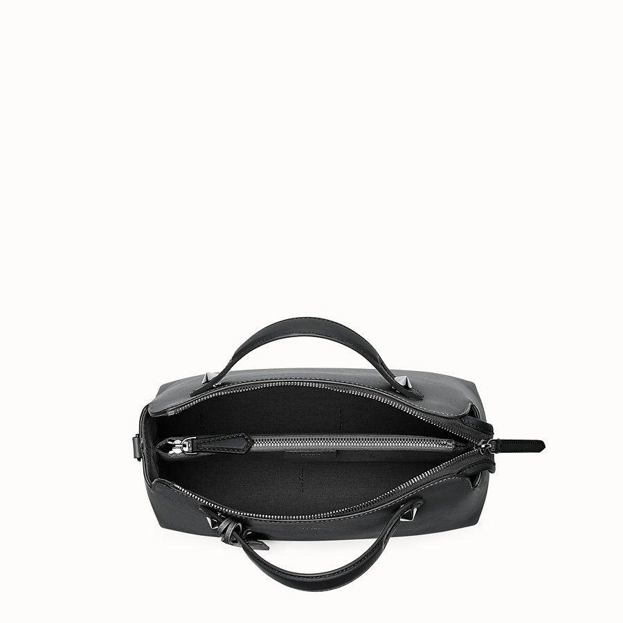 FENDI BY THE WAY REGULAR - Small Boston bag in black leather - view 4 detail