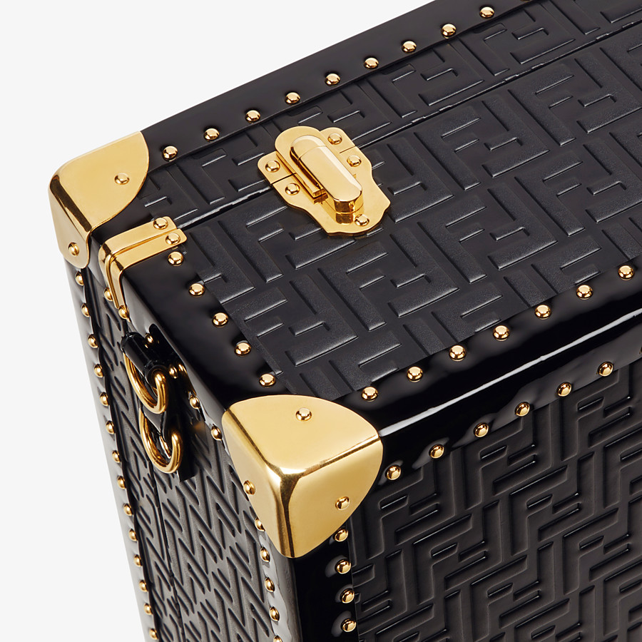 FENDI RIGID SUITCASE LARGE - Black leather suitcase - view 5 detail