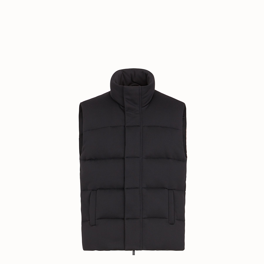 FENDI GILET - Black tech jersey gilet - view 1 detail