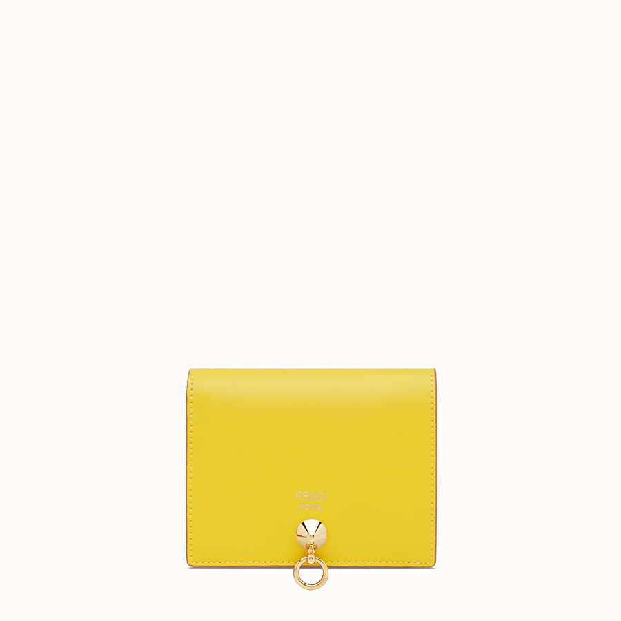FENDI BIFOLD - Yellow compact leather wallet - view 1 detail