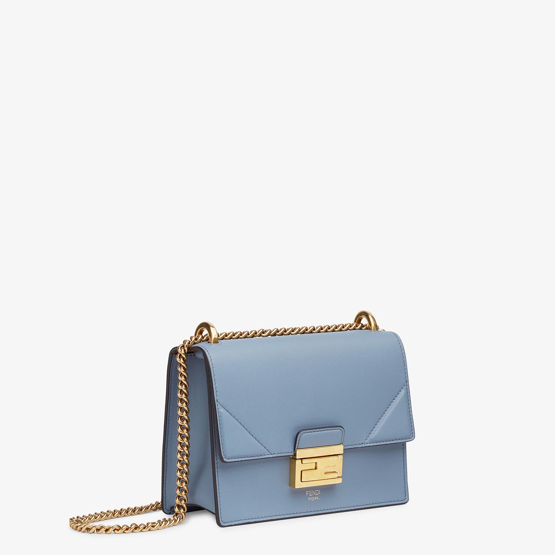FENDI KAN U SMALL - Light blue leather mini-bag - view 3 detail