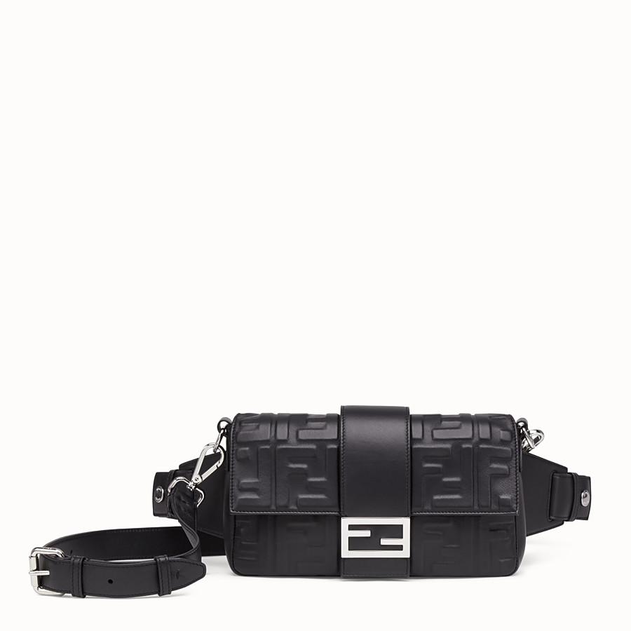 FENDI BAGUETTE - Black nappa leather bag - view 1 detail