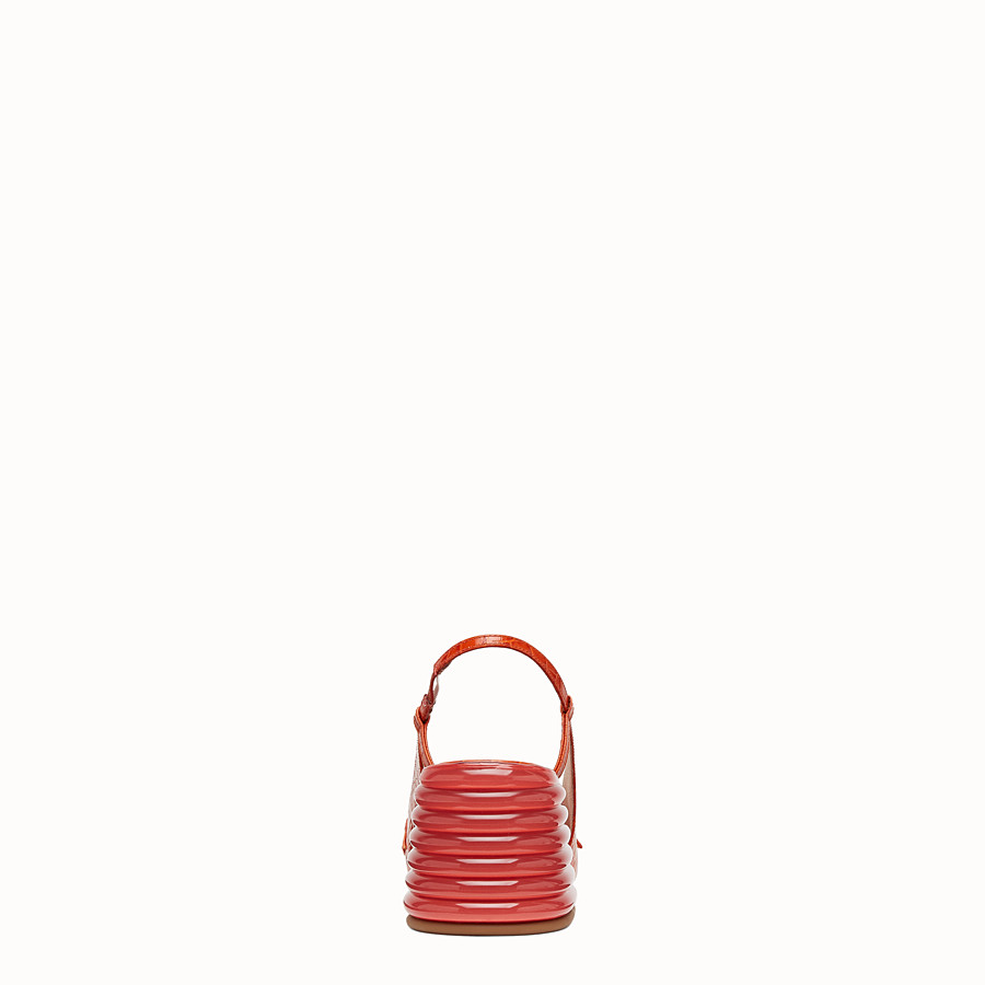 FENDI SLINGBACK - Promenade in pelle rossa - vista 3 dettaglio