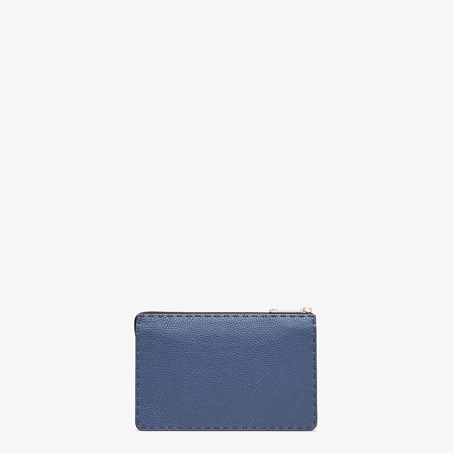 FENDI CLUTCH - Blue leather pochette - view 3 detail