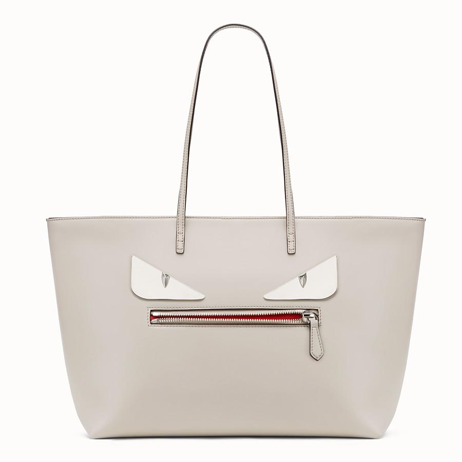 FENDI ROLL BAG - Bag Bugs grey leather shopper bag - view 1 detail