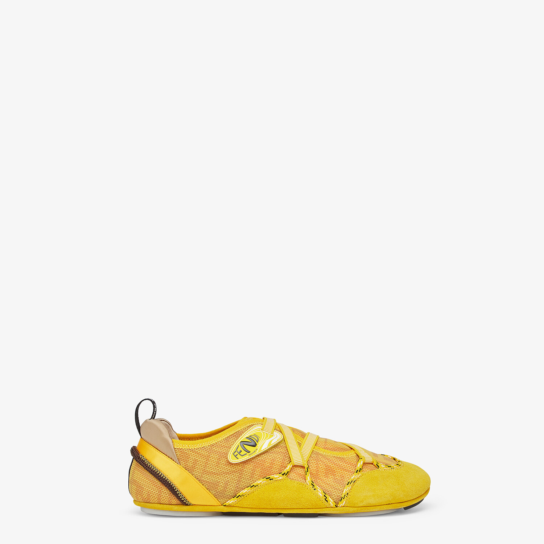 FENDI FENDI FLEX - Yellow suede sneakers - view 1 detail