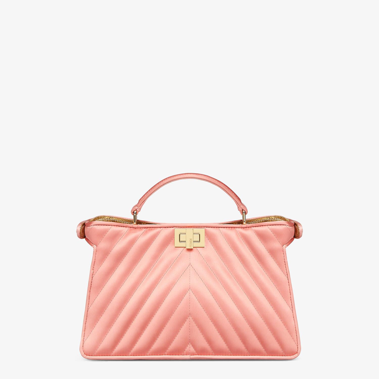 FENDI PEEKABOO I SEE U EAST-WEST - Pink satin bag - view 4 detail