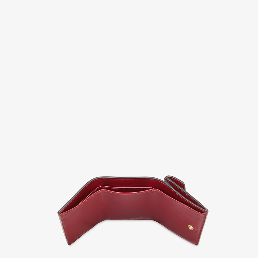 FENDI MICRO TRIFOLD - Burgundy leather wallet - view 4 detail