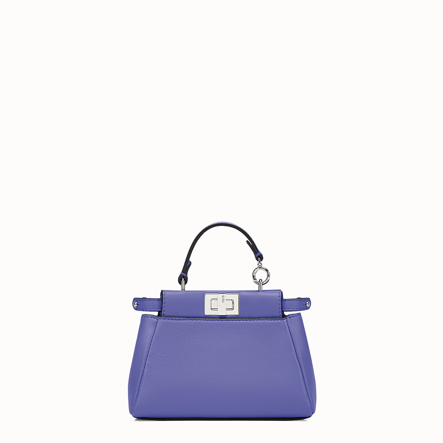 FENDI MICRO PEEKABOO - purple leather microbag - view 1 detail