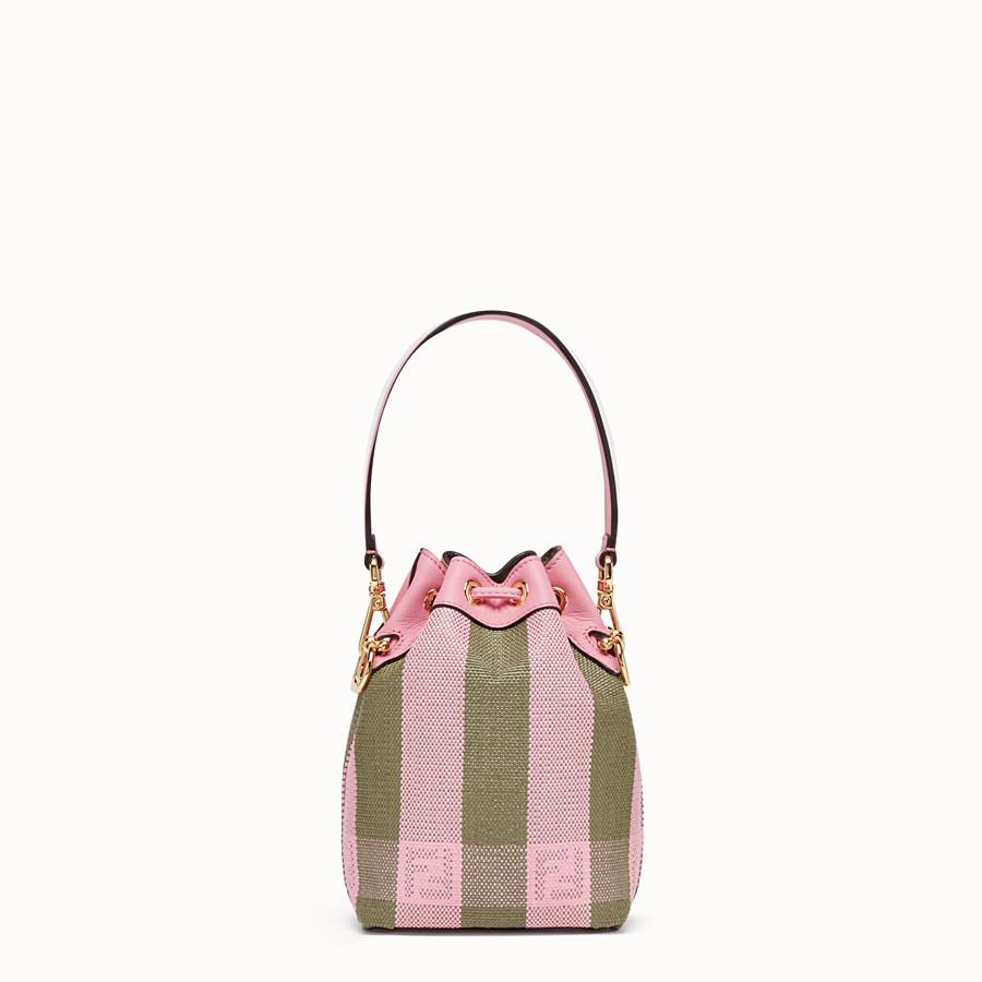 FENDI MON TRESOR - Pink raffia mini-bag - view 4 detail