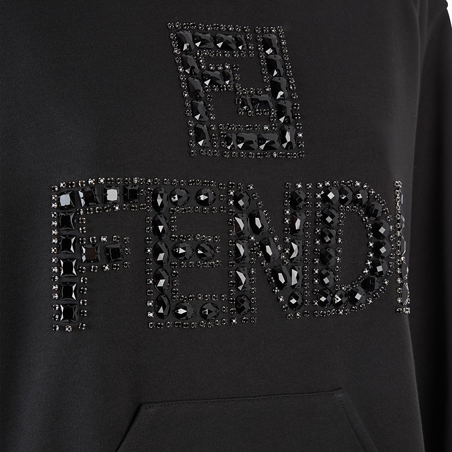 FENDI SWEATSHIRT - Beige cotton jersey sweatshirt - view 3 detail