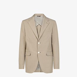FENDI JACKET - Beige cotton blazer - view 1 thumbnail