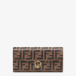 FENDI CONTINENTAL - Brown leather wallet - view 1 thumbnail