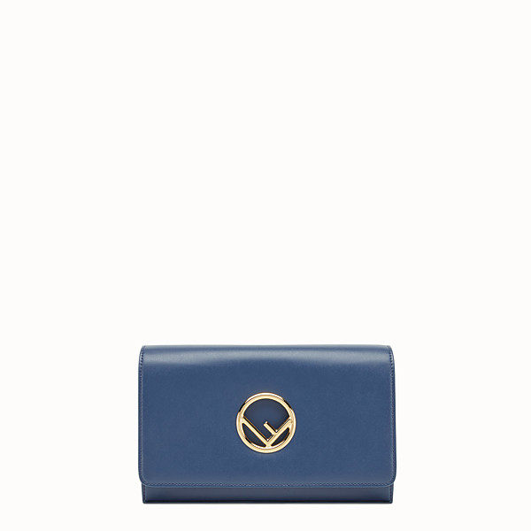 FENDI WALLET ON CHAIN - Dark blue leather mini-bag - view 1 small thumbnail