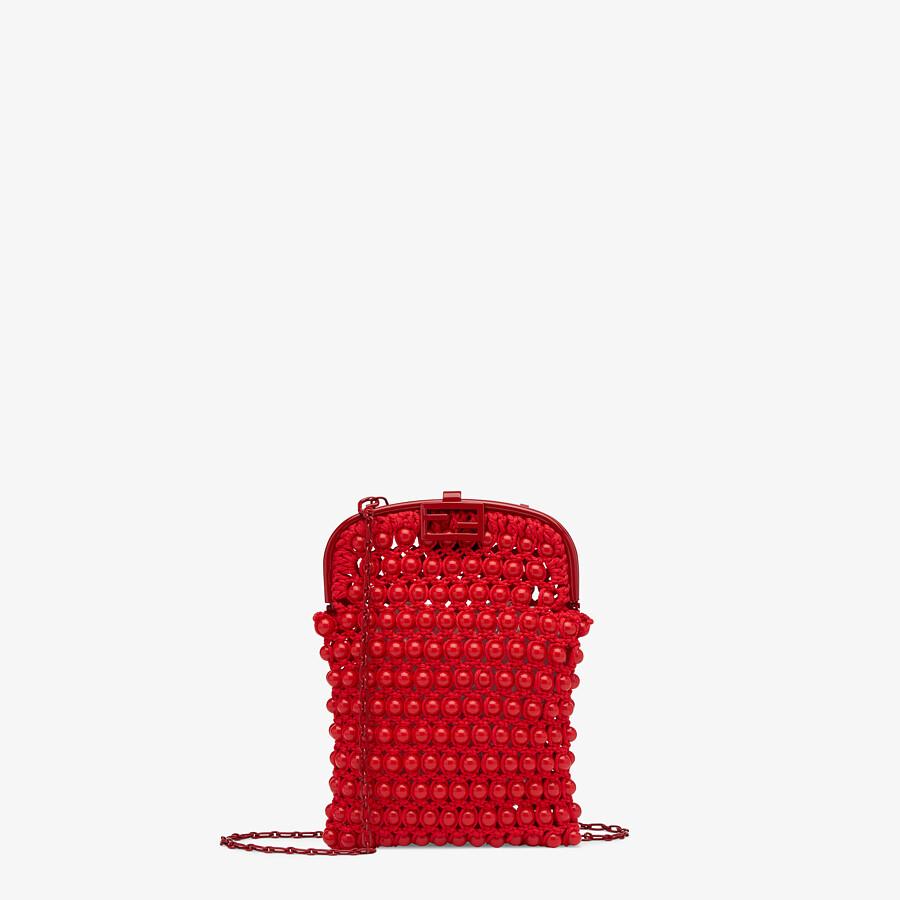 FENDI BAGUETTE PHONE BAG - Red lace mini-bag - view 1 detail