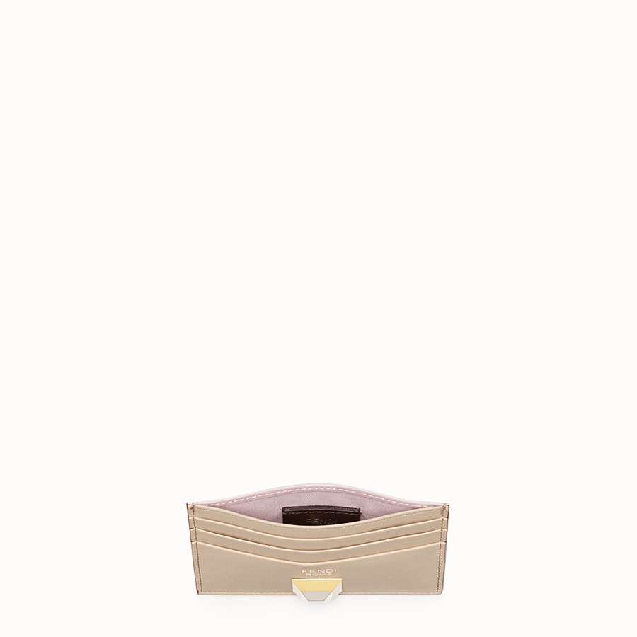 FENDI CARD HOLDER - Multicolour leather flat card holder - view 4 detail
