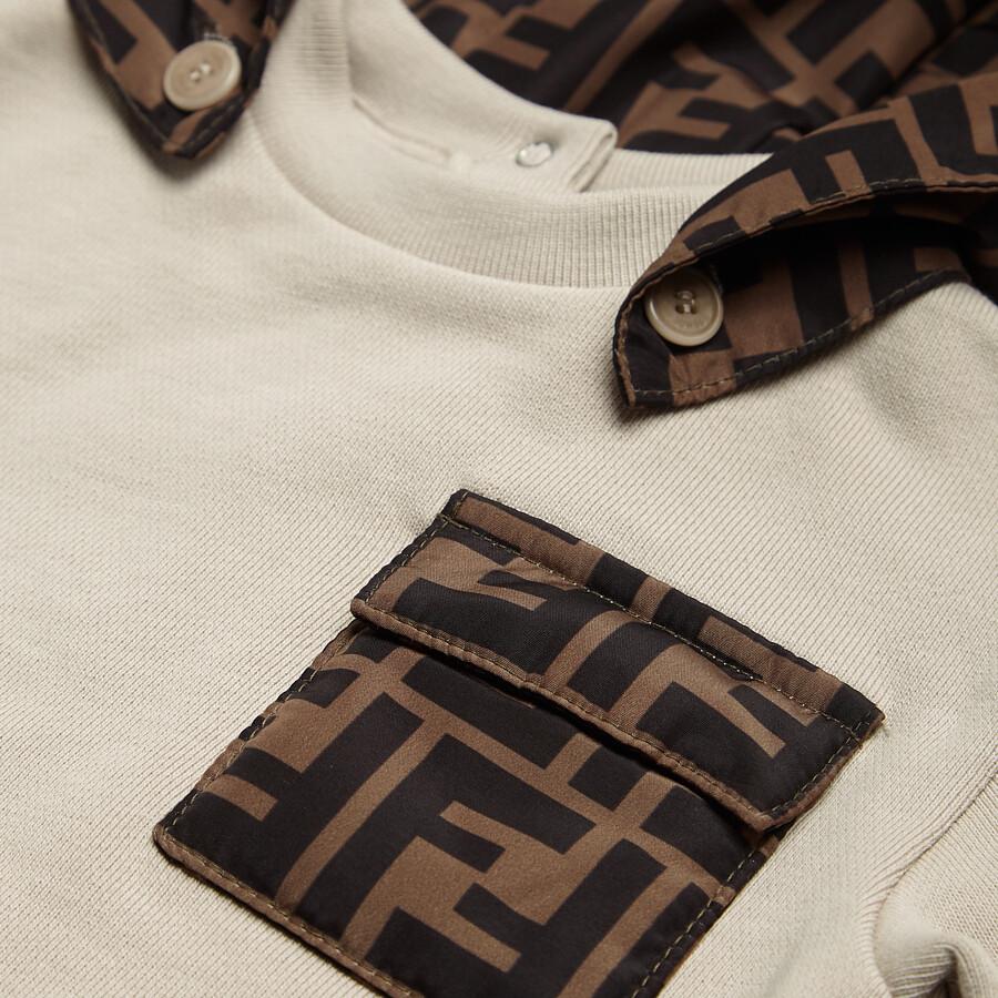 FENDI BABY SWEATSHIRT - Jersey and nylon baby sweatshirt - view 3 detail