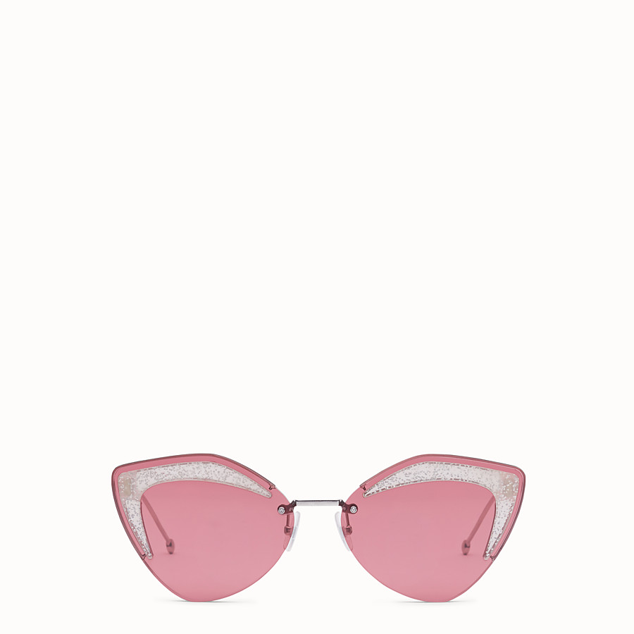 FENDI FENDI GLASS - Silver-colour sunglasses - view 1 detail