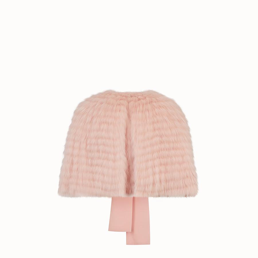 FENDI CAPE - Pink fox fur cape - view 2 detail