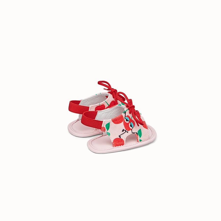 FENDI SANDALO - Sandalo in jersey rosa e rosso - vista 2 dettaglio