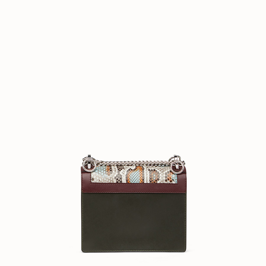FENDI KAN I SMALL - Python and white leather mini bag - view 3 detail