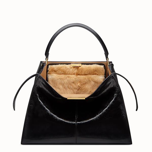 FENDI PEEKABOO X-LITE LARGE - Black leather bag - view 1 small thumbnail