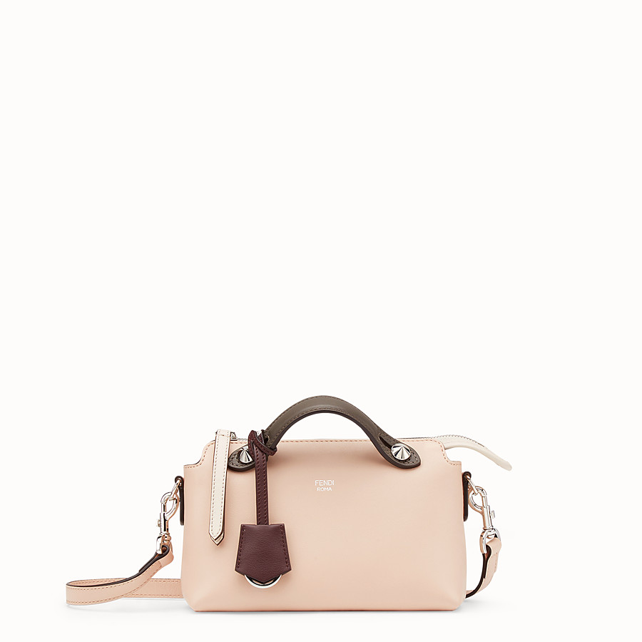 FENDI BY THE WAY MINI - Pink leather Boston bag - view 1 detail