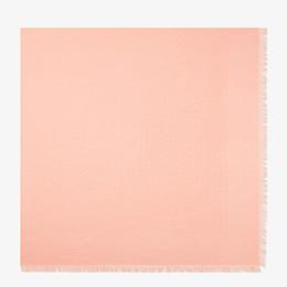 FENDI FF SHAWL - Shawl in pink wool and silk - view 1 thumbnail