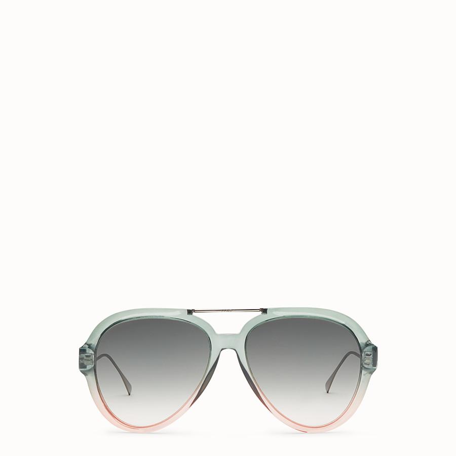 FENDI TROPICAL SHINE - Sonnenbrille in Grün und Rosa - view 1 detail