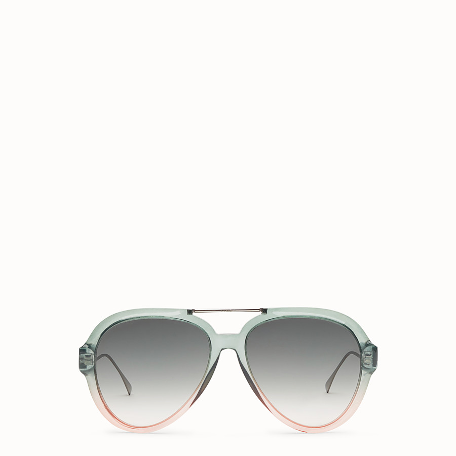 FENDI TROPICAL SHINE - Green and pink sunglasses - view 1 detail