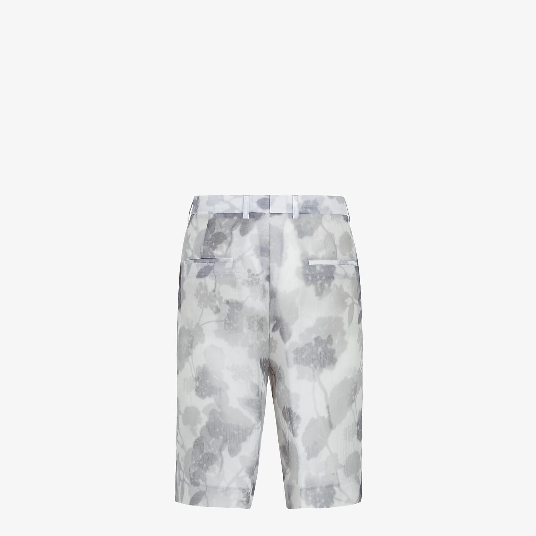 FENDI BERMUDAS - Natural organza trousers - view 2 detail